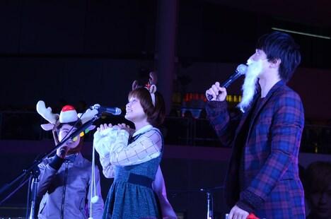 クリスマス仕様の仮装でもファンを楽しませたMUSH&Co.。