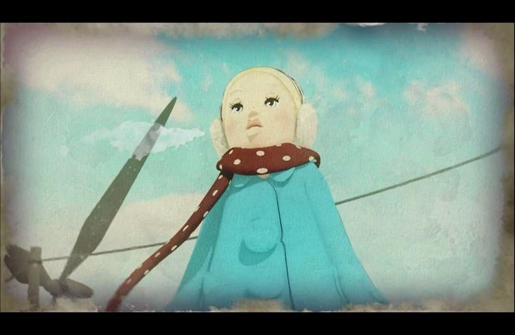 amazarashi「クリスマス」PVのワンシーン。