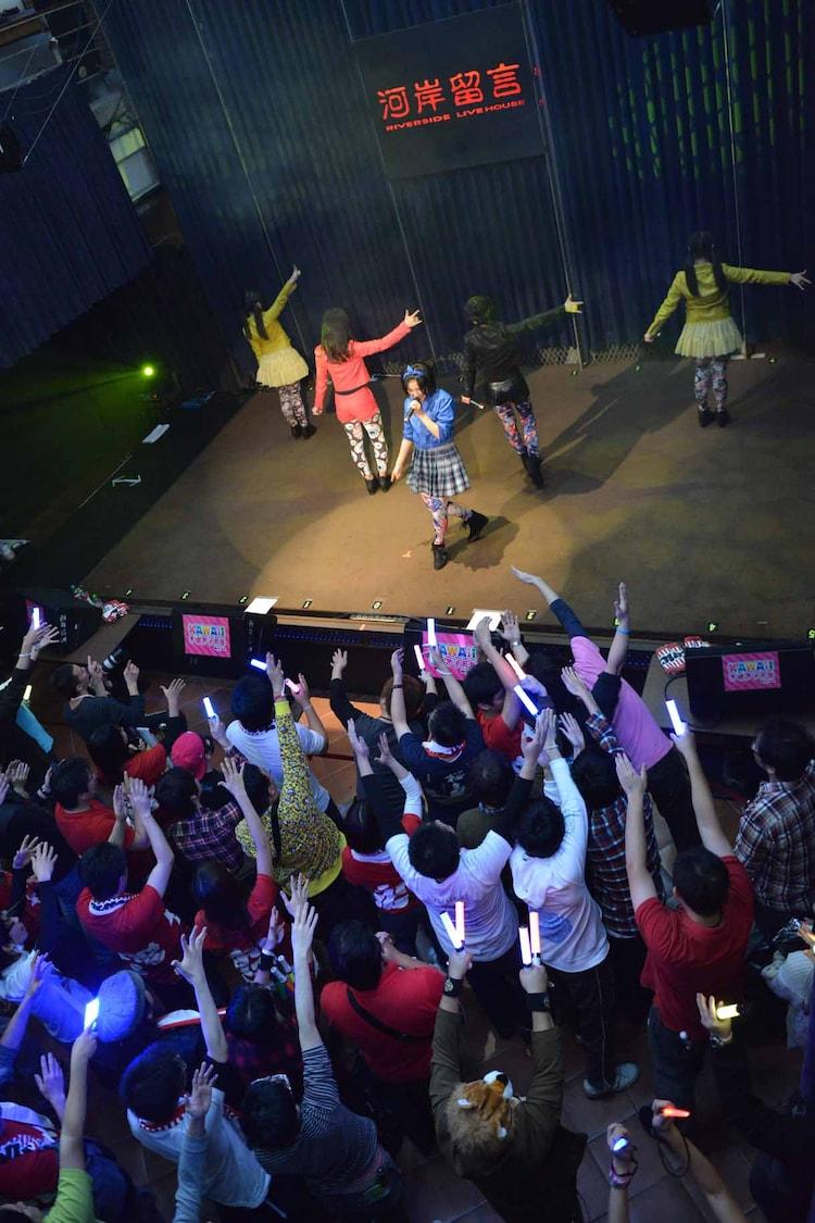 「KAWAII POP FES by@JAM in台湾」Dancing Dollsのライブの様子。