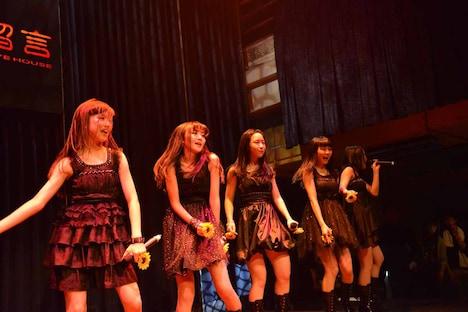 「KAWAII POP FES by@JAM in台湾」東京女子流のライブの様子。