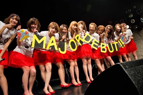 predia「The graduation party of Terumi & Megumi」の様子。