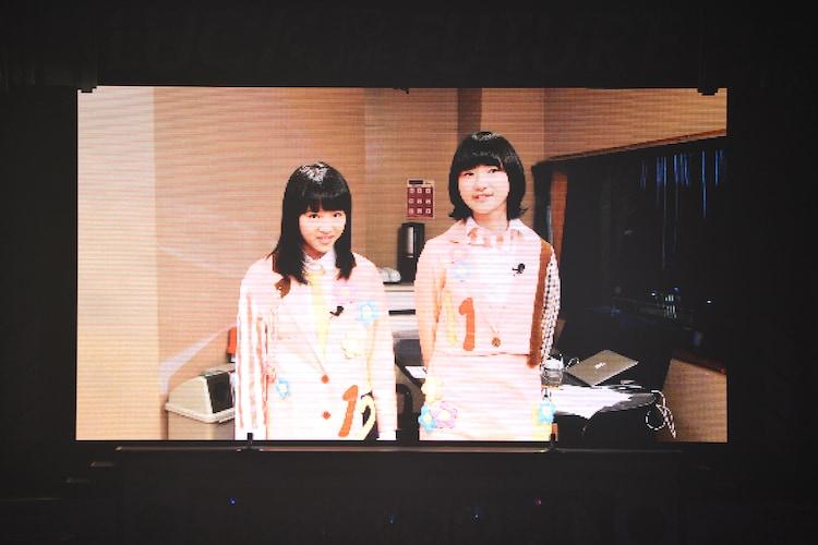 コメントムービーで出演を果たした中山莉子(左)と小林歌穂(右)。