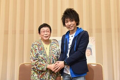 TBS系ドラマ「なるようになるさ。」シーズン2の脚本を手掛ける橋田壽賀子と、主題歌を担当する指田郁也。