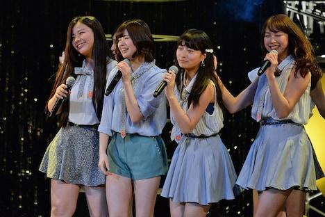 「ぽにきゃん!アイドル倶楽部 感謝祭 ~アイドルサバイバル~」昼公演の様子。右から2番目が後藤郁。
