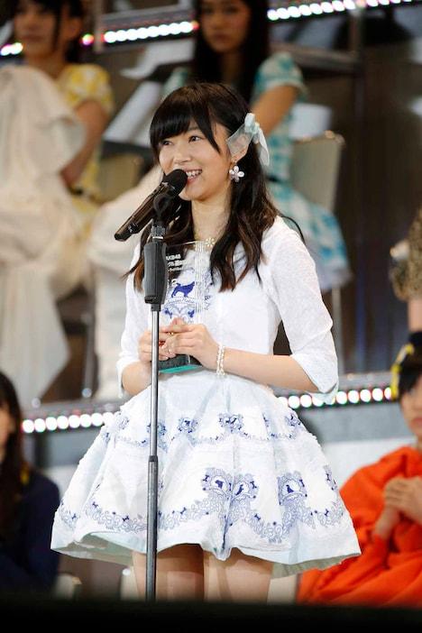 AKB48 37thシングル選抜総選挙第2位の指原莉乃(HKT48チームH / HKT48劇場支配人兼任)。 (c)AKS