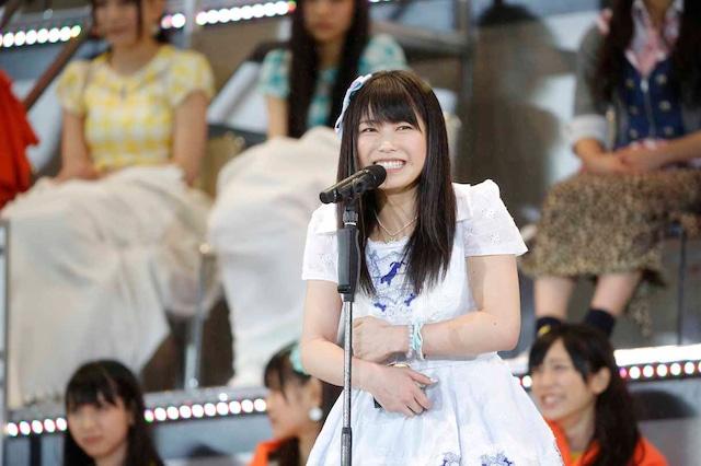 AKB48 37thシングル選抜総選挙第13位の横山由依(AKB48チームK)。 (c)AKS