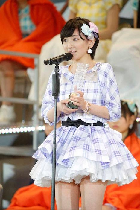 AKB48 37thシングル選抜総選挙第14位の生駒里奈(乃木坂46 / AKB48チームB兼任)。 (c)AKS