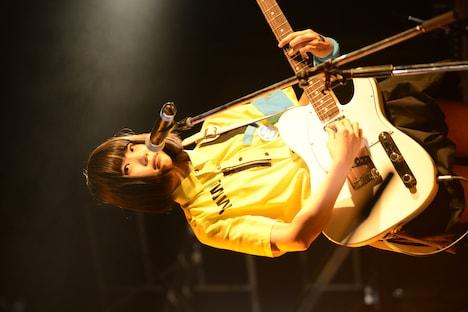 8月9日に東京・LIQUIDROOM ebisuで行われたゆるめるモ!ワンマンライブでのあの。(Photo by ElNinoTheIdol / mel house)