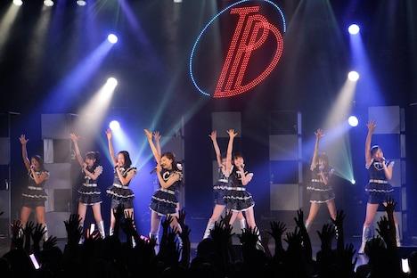 """「東京パフォーマンスドール LIVE TOUR 2014夏~DANCE SUMMIT""""1×0""""ver1.0~」の様子。"""