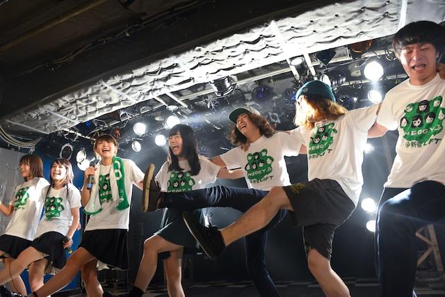 「新宿ロフト presents 乙女の事情」で初共演したNegiccoとShiggy Jr.。