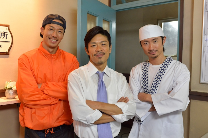 左からEXILE AKIRA、松本利夫、EXILE MAKIDAI。 (c)ytv