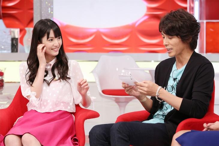 左から道重さゆみ、藤木直人。(c)日本テレビ