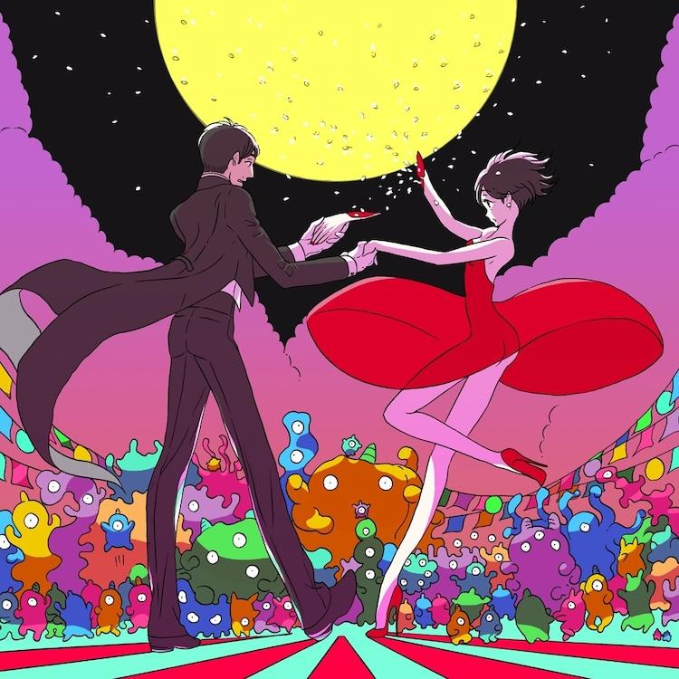 星野源オフィシャルサイトのトップページを飾る、市川春子の描き下ろしイラスト。