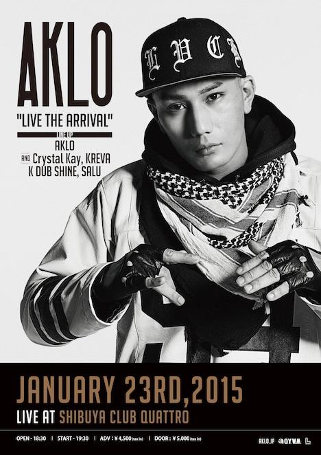 """「AKLO """"LIVE THE ARRIVAL""""」ポスター"""