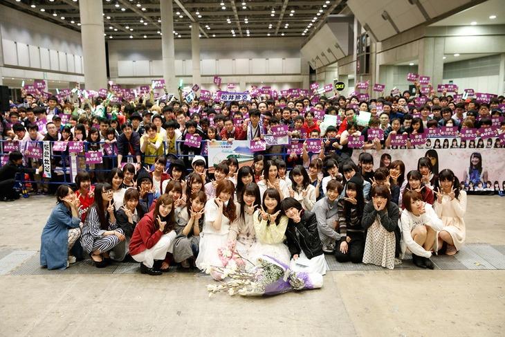 松井玲奈の乃木坂46兼任解除セレモニーの様子。