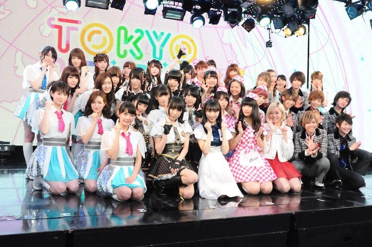 東京・ニコファーレにて開催された「TIF2015開催決定記念ライブ! ~エピソード0~コラボ組み合わせ抽選会」の様子。