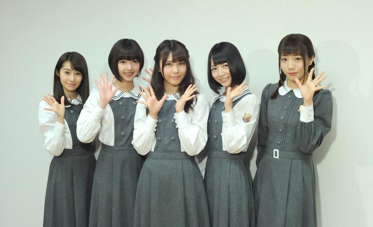 左から桜井玲香、和田まあや、川後陽菜、北野日奈子、能條愛未。