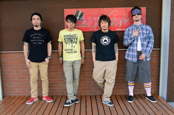 Ken Band。写真右から2番目がKen Yokoyama。
