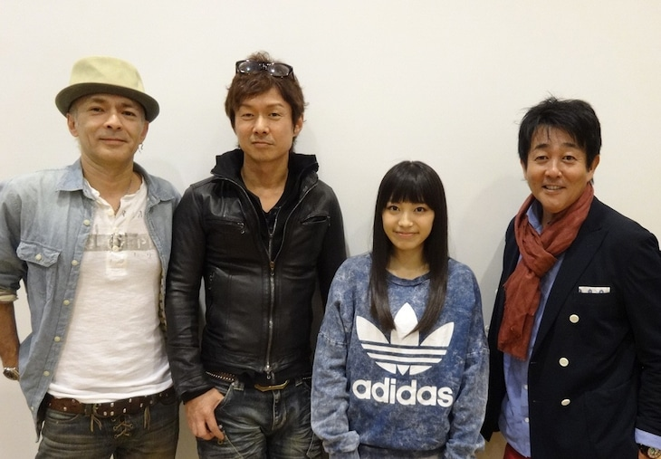 写真左より角野秀行、春畑道哉、miwa、前田亘輝。