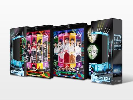 ももいろクローバーZ「ももいろクリスマス2014 さいたまスーパーアリーナ大会 ~Shining Snow Story~ Day1 / Day2」Blu-ray BOX展開図見本