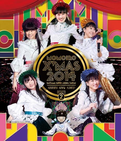 ももいろクローバーZ「ももいろクリスマス2014 さいたまスーパーアリーナ大会 ~Shining Snow Story~ Day2」Blu-ray盤ジャケット