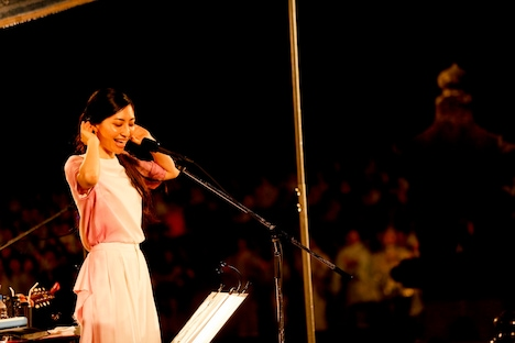 坂本真綾「20th Anniversary Special Live Open Air Museum 2015」の様子。(Photo by MAKOTO HADA)