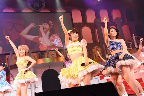 「SUPER☆GiRLS LIVE 2015 5th Anniversary TOUR~SUPER☆CASTLE~」千秋楽公演の様子。