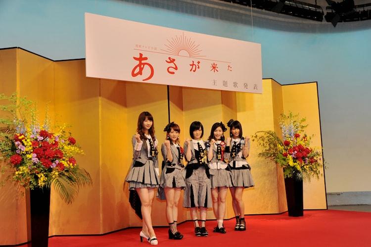 主題歌発表会の様子。