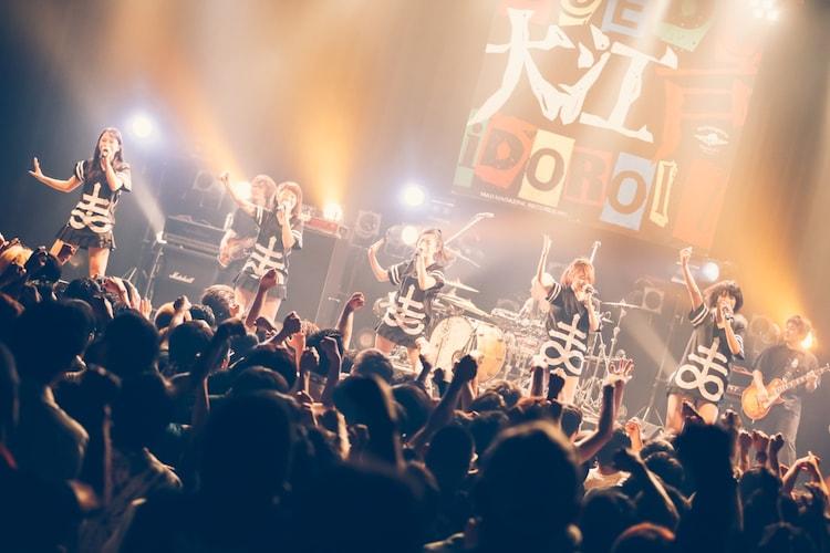 8月28日に行われた「ひめキュン祭 ~ 大江戸アイドロール!SPECIAL 其の参」でのひめキュンフルーツ缶のステージ。(撮影:西槙太一)