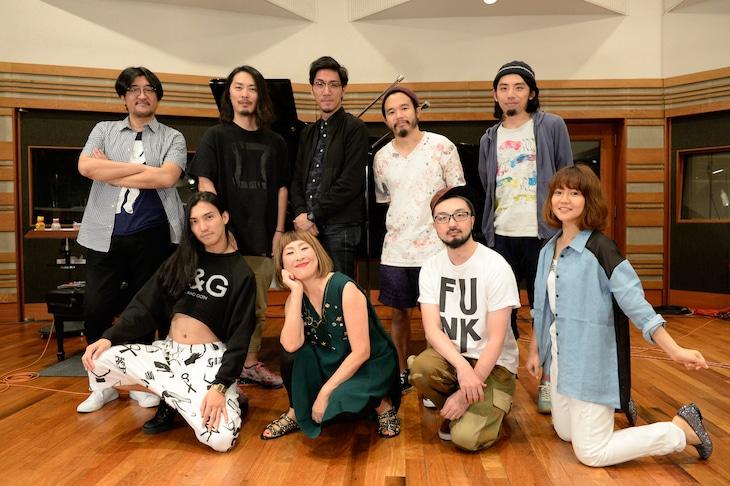 「矢野顕子 SPECIAL LIVE at VICTOR STUDIO~Welcome to Jupiter~」の参加アーティストたち。(撮影:緒車寿一)