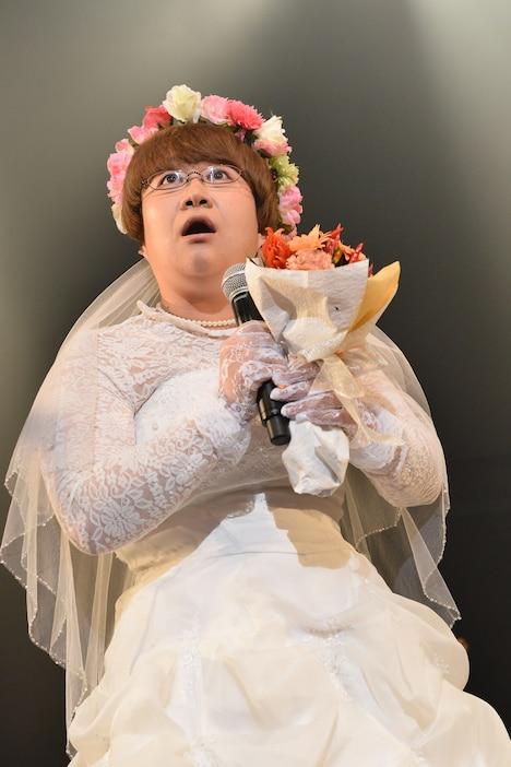 """""""消えた花嫁""""ことハリセンボンの近藤春菜。(Photo by Azusa Takada)"""
