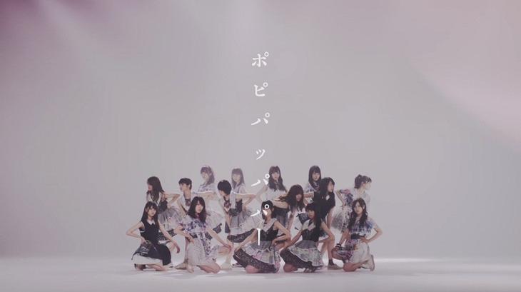 乃木坂46「ポピパッパパー」ミュージックビデオのワンシーン。
