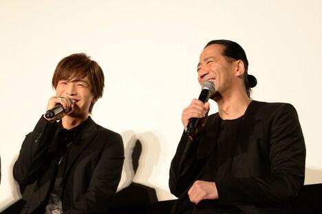 左から岩田剛典(EXILE、三代目 J Soul Brothers from EXILE TRIBE)、EXILE HIRO。