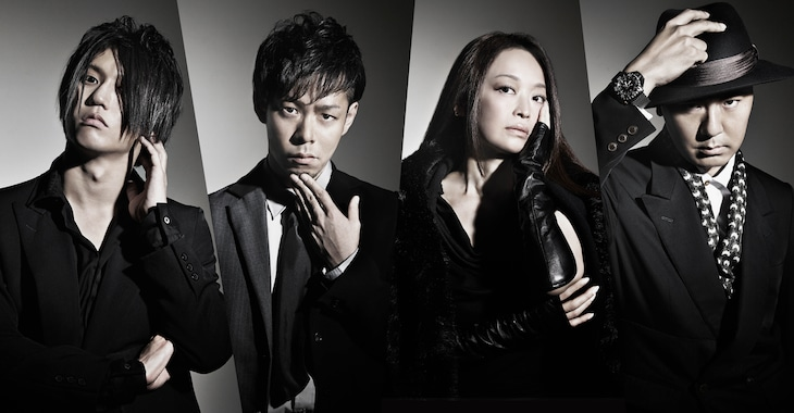 Q-MHz。左から田淵智也、黒須克彦、畑亜貴、田代智一。
