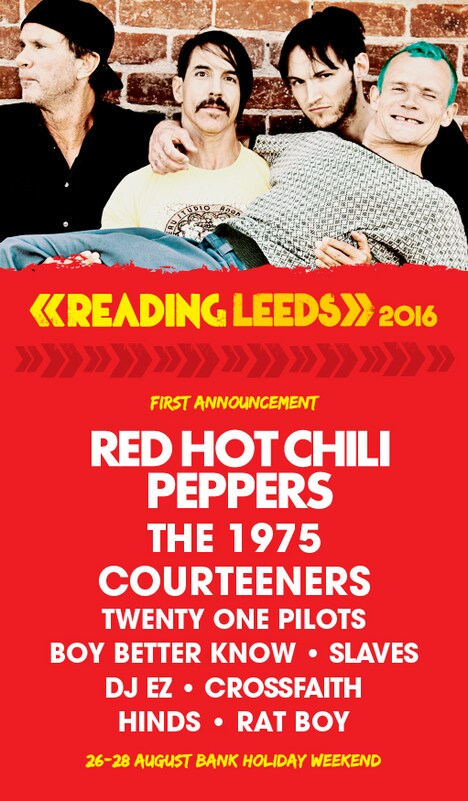 「Reading & Leeds Festivals 2016」第1弾アーティストラインナップ