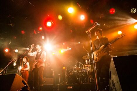 「1st Full Album スーパーリアリズム release Tour『みんなでウソツカナイト』」渋谷CLUB QUATTRO公演の様子。(撮影:山野浩司)