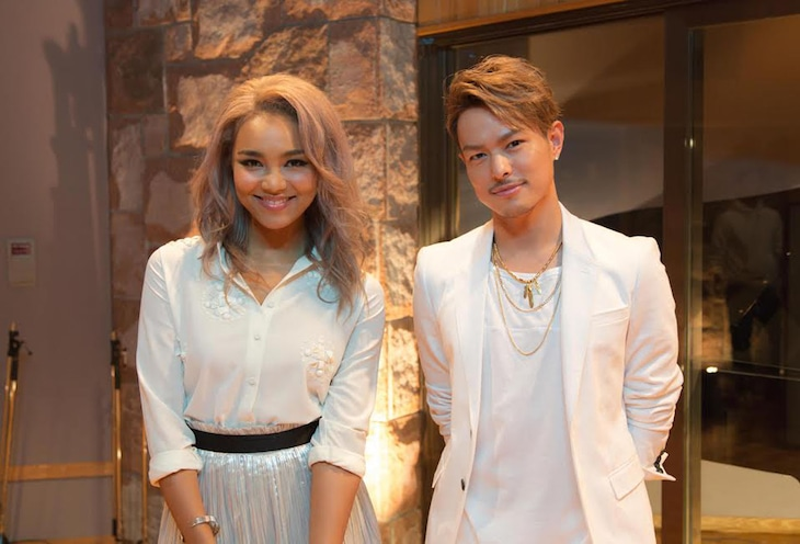 Crystal Kayと今市隆二(三代目 J Soul Brothers from EXILE TRIBE)。