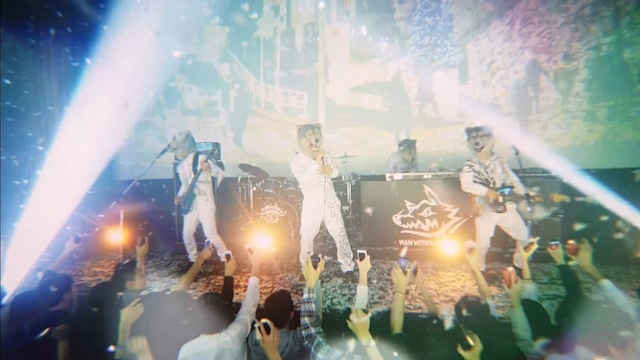 MAN WITH A MISSION「Memories」ミュージックビデオのワンシーン。