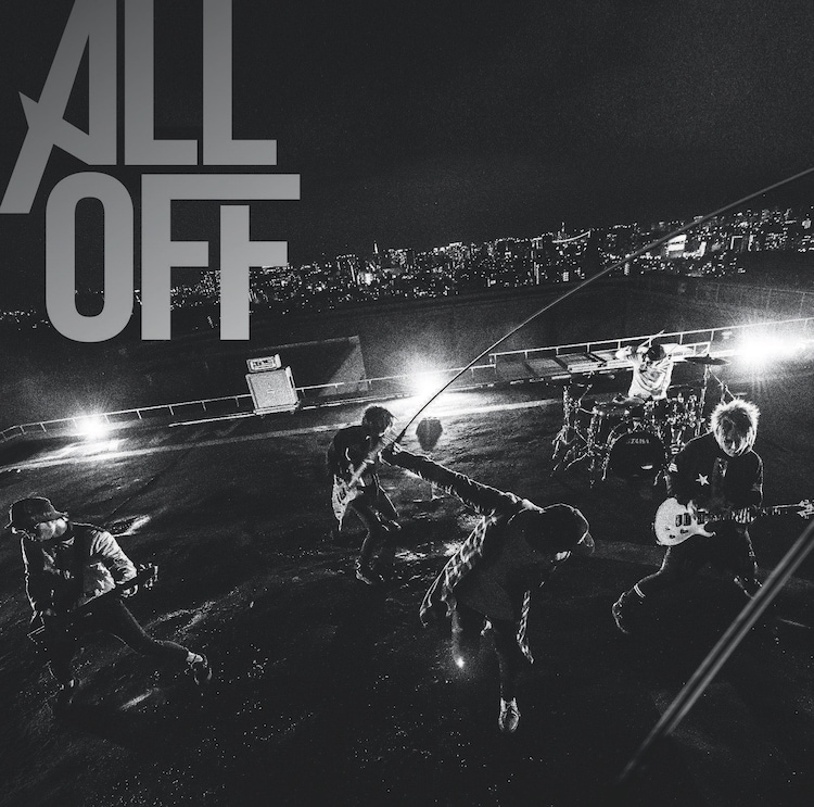 ALL OFF「Never Gave Up」アーティスト盤ジャケット