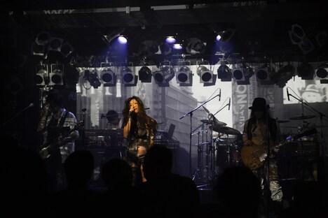 「MOMO ファースト・ライブ」の様子。(撮影:大島央照)
