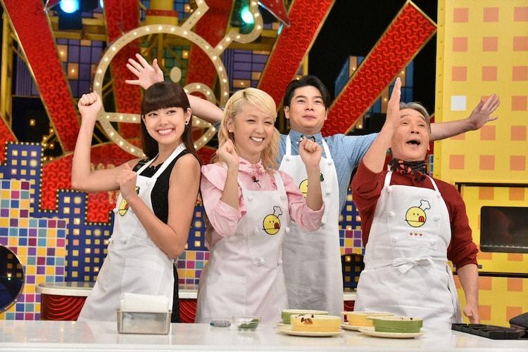 左より森星、Ami、吉村崇、堺正章。 (c)TBS
