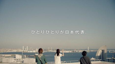 三井住友銀行CM「いきものがかり篇」のワンシーン。