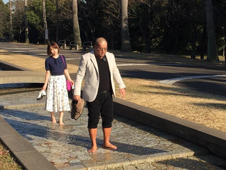 左から村田莉、石井智宏。