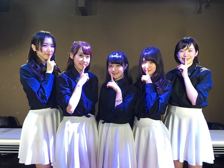 左から鶴田葵、宮島小百合、高橋明日香、今出舞、栗生みな。