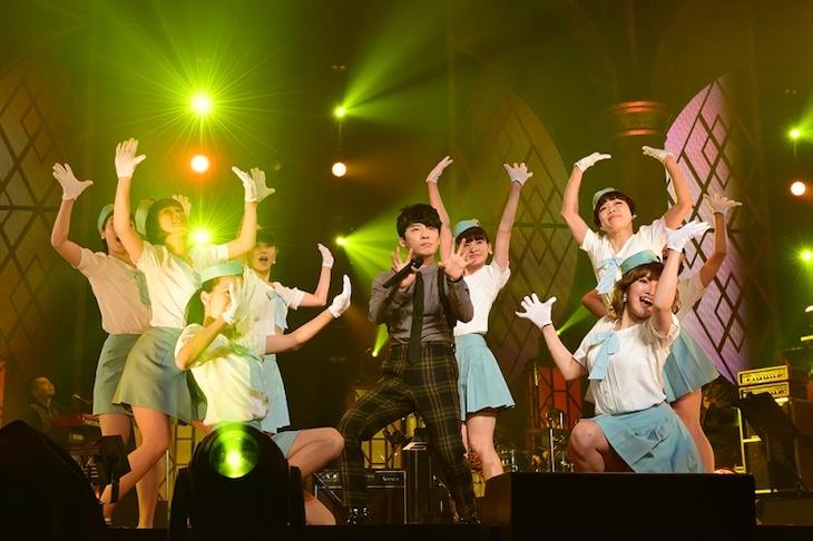星野源「星野源 LIVE TOUR 2016『YELLOW VOYAGE』」大阪・大阪城ホール公演の様子。(撮影:岸田哲平)