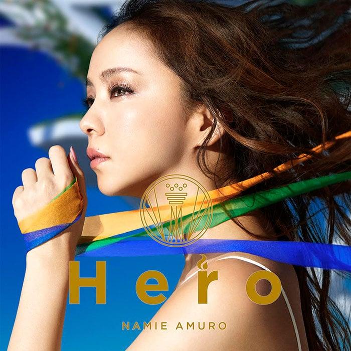 安室奈美恵「Hero」CD+DVD盤ジャケット
