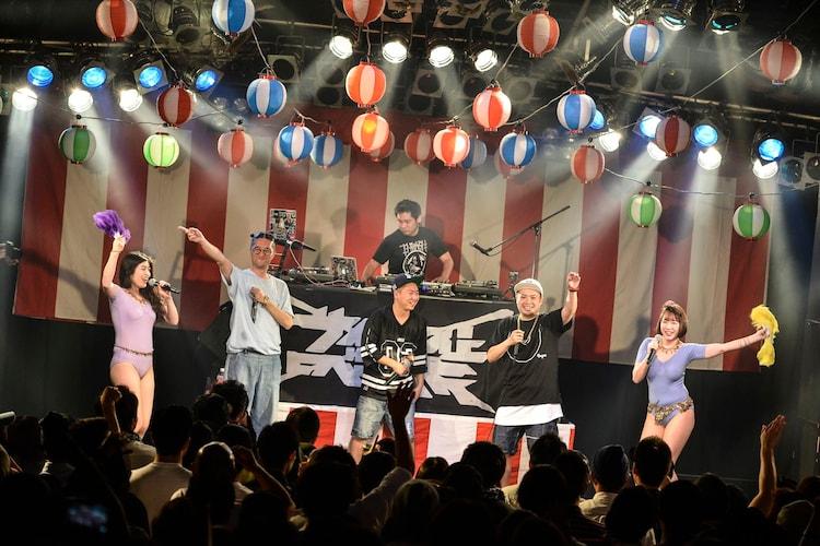 サイプレス上野とロベルト吉野とZEN-LA-ROCKとTARO SOULとベッド・イン。(撮影:高田梓)