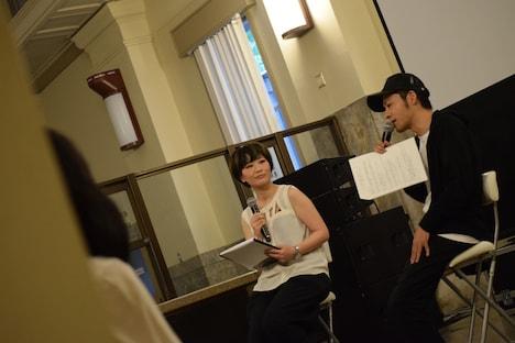 7月6日に広島・旧日本銀行広島支店で行われた「兵士A」特別試写会の様子。(撮影:藤井徹)