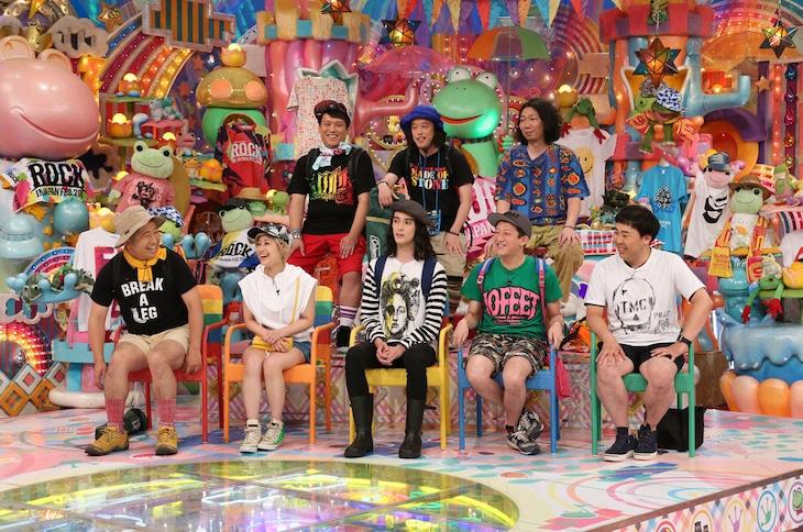 """「アメトーーク!」に出演する""""夏フェス芸人""""たち。 (c)テレビ朝日"""