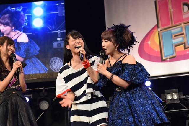 矢口真里とステージに立てる喜びを露わにするmei(lyrical school)。